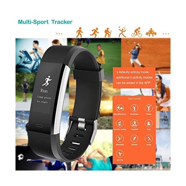 Willful Fitness Tracker with Heart Rate Monitor, Fitness Watch Activity Tracker Waterproof 6