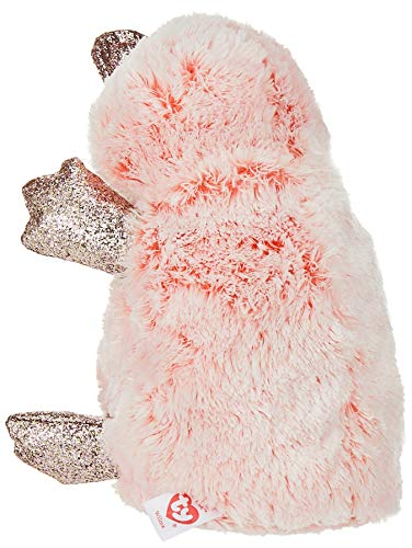 Ty 1607-36217 Wilma Pink Platypus-Beanie BOOS, Multicolored, 15 cm