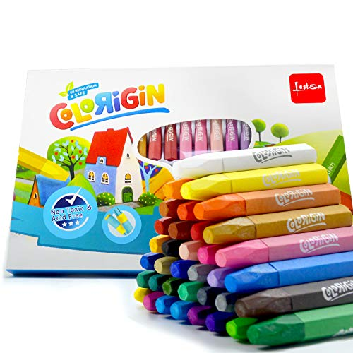 Lasten Non Toxic Oil Pastels Set for Kids 36 Colors Crayons Oil Paint Drawing Sticks Art Supplies for Artists Adults and Kids, Pastel Holders and Sharpeners as Bonus
