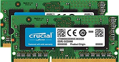 Crucial 8GB Kit (4GBx2) Upgrade for a Lenovo ThinkPad T500 Series System (DDR3 PC3-12800, Non-ECC,)