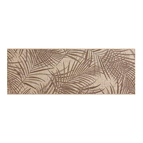 Gertmenian Tropical Collection Outdoor Rug Patio Area Carpet 2x6 Runner Sequoia Leafs Tan