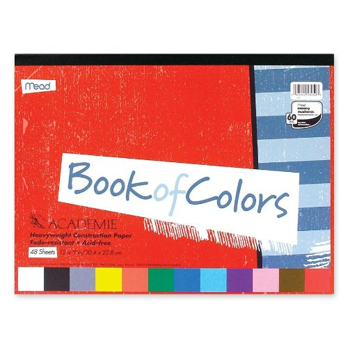 Mead Académie Book of Colors, Heavyweight Paper, 48 Sheets, 12 x 9 Inch Sheet Size (53050)