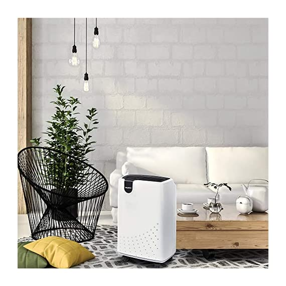 Yaufey 1500 sq. Ft dehumidifiers for home and basements, with continuous or manual drainage, intelligent control quietly… 3 professional and efficient dehumidification- with removal capacity of up to remove up to 32. 7 pints (under 95°f, 90%rh condition) of moisture per day. (please note: under 95°f, 90%rh condition, the max dehumidification capacity up to 32. 7 pints), it is an energy-efficient dehumidifier which is suitable for basement, home, bathroom, bedroom, garage, and other indoor spaces up to 1500 sq. Ft. Convenient and simple to use. Home appliances never need to be complicated, so our dehumidifier isn't. It features a light-touch intelligent control panel, which let you see the operating settings at a glance. Adjust to your ideal moisture setting, then let it run its continuous 24-hour cycle until the 1. 8l tank is full, at which point it will automatically shut-off. Tired of manual drainage? There's also a drain hose outlet for continuous draining. The 2-meter long drain hose is included. Multiple humanized features. You can select between regular and turbo fan speeds for optimal comfort. The low-noise design will get you far away from the disturbing noise when sleeping or studying. The removable and washable filter means easy maintenance — simply clean it regularly and then recycle. Program the 24-hour timer to suit your lifestyle and save energy costs. All of them can ensure you to have the best possible experience with our dehumidifier.