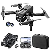 GoolRC KK1 Mini Drone with Dual Camera for Kids, WiFi FPV Drone with 4K HD Camera, RC Quadcopter with 360° Flip, Gesture Photo/Video, Track Flight, Altitude Hold, Headless Mode, Bag and 2 Batteries