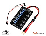 STRIX 4S Parallel Charging Board 2.0 - JB Signature Line - Charge up to 10 LiPo's at Once! for 4 Cell Drone Batteries, RC Airplanes, quadcopters