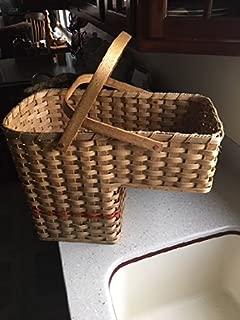 ForeverAmishMade Amish Handmade Signed Stair Basket