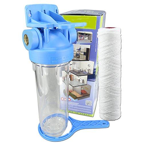 FILTROTECH 10 Zoll Vorfilter Nachfilter Wasserfilter Hauswasserwerk Gartenpumpe Schmutzfilter Anschluss IG-1 Zoll