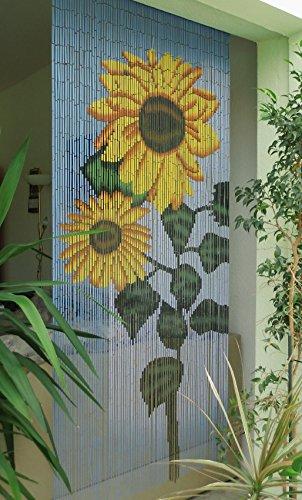 Unbekannt Bambustürvorhang Bambusvorhang Türvorhang Sunflower ca. 90x200cm