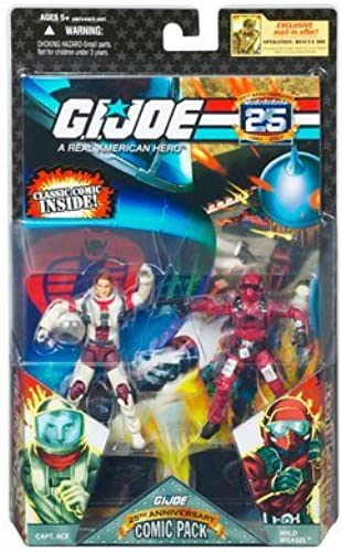 GI Joe 25th Anniversary - Comic 2-Packs  Captain Ace & Wild Weasel by G. I. Joe