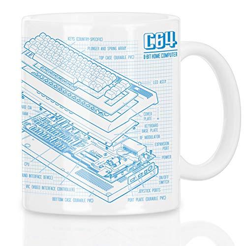 style3 C64 Heimcomputer Blaupause Motivtasse classic gamer