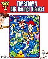 トイストーリー4 BIGフランネルブランケット 「ひざ掛け」「ディズニー」