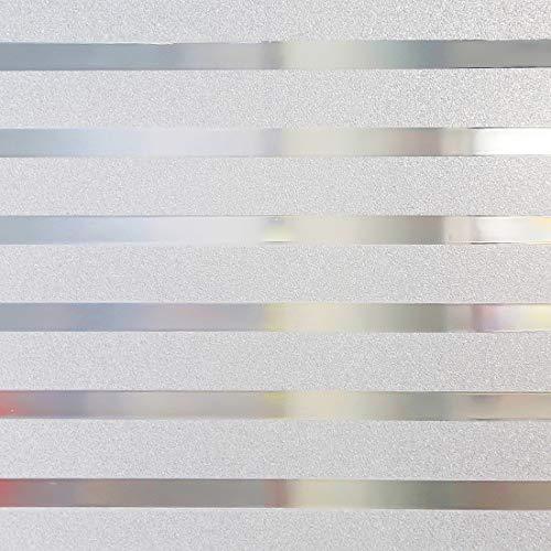 Housolution 2D Pegatinas de Ventana, Adhesivo con Electricida Estática Pegatina Privacidad de Ventana del PVC para Ventana Anti-UV, Rayas Gruesas(200 x46 cm)