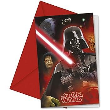 Lot 6 Carte Invitation Star Wars Dark Vador Anniversaire Fete 970 Amazon Fr Jeux Et Jouets