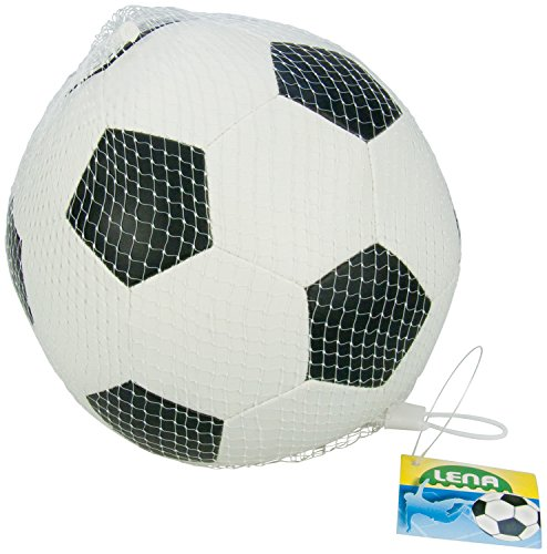 Lena 62178 - Soft Fußball aus Schaumstoff, weicher Ball ca. 18 cm, Spielball für Kinder ab 1 Jahr, Softball zum Spielen und Baden, elastischer und strapazierfähiger Schaumstoffball