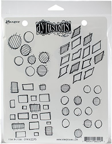 Ranger Dylusions Lot de 4 tampons en matière synthétique Multicolore 24,3 x 17,8 x 0,6 cm