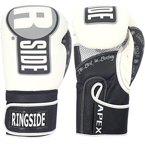 Ringside Luvas de saco de treinamento de boxe Apex, branco/preto, grande GG