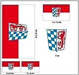 Aufkleber Set Niederbayern Fahne Flagge