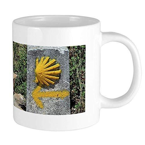 El Camino De Santiago De Compostela, España, S Mugs 11 oz Taza de café de cerámica Mega