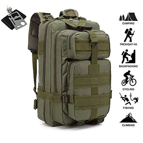 Odot 30L Militärische Angriff Taktik Reiserucksack Wanderrucksack, Multifunktionale Tagesrucksack Camping Trekking Rucksäcke, Sport im Freien Rucksäcke Tasche (30L,Armeegrün)