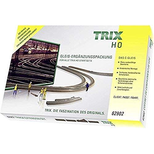 TRIX T62902 Modelleisenbahn C-Gleis-Ergänzungspackung C2, Spur H0