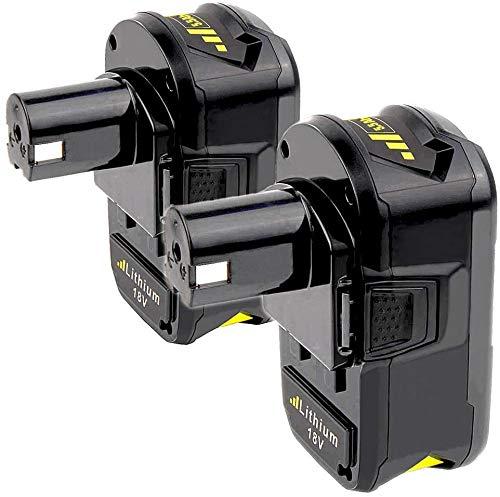 2Stück 18V 5.5Ah Li-Ionen-Ersatz für Ryobi ONE Akku RB18L40 RB18L50 RB18L25 RB18L13 P108 P107 P122 P104 P105 P102 P103
