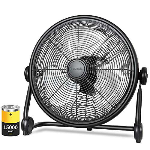 Rechargeable Floor Fan, 15000mAh Battery Powered...