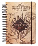 Grupo Erik Cuaderno Harry Potter The Marauder´s map, Cuaderno punteado, Cuaderno de notas, Libreta A5 hojas blancas / Bloc A5, Marron