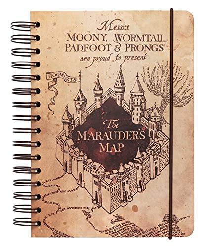 Grupo Erik Bullet Journal notitieboek Harry Potter de kaart van de rumdriver – hardcover notitieblok A5 ringband…