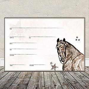 Boxenschild Stallschild Stalltafel Namensschild Pferd 'Araber, Warmblut' 20x30cm
