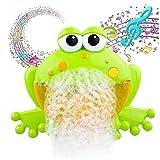 Coollooda Juguetes de Ducha Divertidos para bebés Máquina de Burbujas de Ducha automática Juguetes de Burbujas de ba?o para bebés Juguetes de ba?o Soplador de Burbujas con 12 Canciones de música Frog