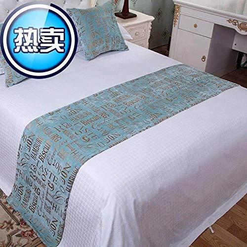 Camino de cama star hotel toalla de fondo marino Xifu bandera de cama doméstica funda de cama falda de cama cojín de extremo de cama toalla de sofá Flor de gancho amarillo Cama de 2 M 50x260 cm