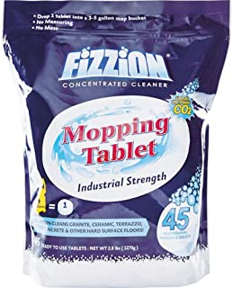 Fizzion Drop and Mop Pail Odor and Stain Remover for Pets, 45 Tablets