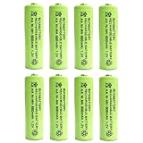 BuyaBattery AA 1.2v 600mAh NiMH Rechargeable Solar Light Batteries for Outdoor Garden Solar