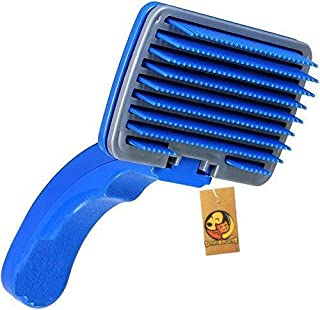 Foodie Puppies Imported Dog Plastic Slicker Brush with Press Key
