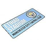 Manchester City FC Metallschild mit offiziellem Clubwappen