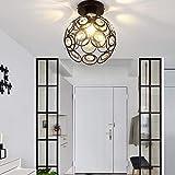 ALLOMN Lámpara de Techo Moderna, Lámpara de Techo de Cristal, Dormitorio, Pasillo Sala de Estar, Lámpara de Techo, E27 Diámetro del Enchufe: 20 cm (Bombilla no Incluida)