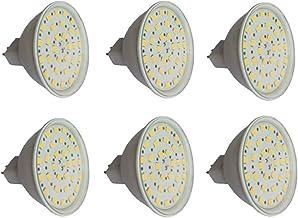 SGJFZD MR16 LED Bulbs 24V, 6W GU5.3 LED Light, 50W MR16 Halogen Light Equivalent, White Shell MR16 LED Spotlights, 500Lume...