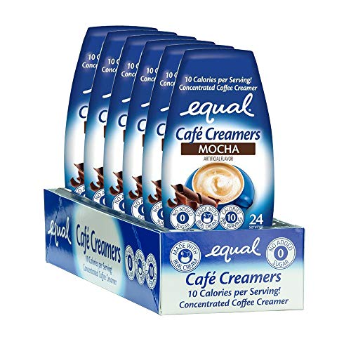 EQUAL Café Coffee Creamers Mocha, Low-Calorie Coffee Creamer, 1.62 Ounce (Pack of 6)
