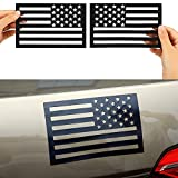 6 Pieces American Flag Magnet Cut-Out 3D US Flag Car Emblem Decals Vehicle Tactical Military Patriotic Badge Stickers Black Bumper Decal Stickers for Car Truck SUV Decoration Accessories, 4 x 6 Inch