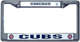 Rico Industries MLB Chrome White License Plate Frame, Chicago Cubs