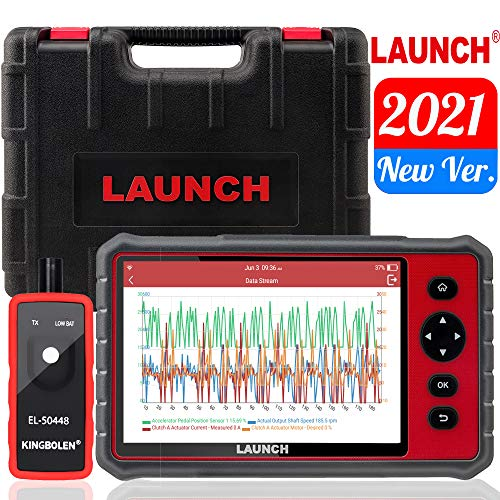 """LAUNCH CRP909E OBD2 Scanner Full System Scan Tool,15 Reset Functions Automotive Diagnostic Tool,Key Programming,DPF,ABS Bleeding,TPMS,Auto VIN,Free Update,7""""Inch Touch Screen+EL-50448 TPMS Tool"""