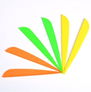 4 inches Arrows Vanes Plastic Archery Feather Fletching Vanes DIY Own Archery Arrows 34 Pack Yellow 34 Pack Orange 34 Pack Green