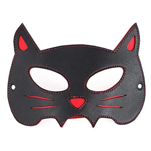 Máscara de ojos de cuero Remache Headgear Nightclub Animal Mask