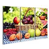 islandburner Bild Bilder auf Leinwand Obst im Korb auf
