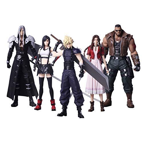 Square Enix Pack 5 Figuras 10 cm Final Fantasy VII Remake Trading Arts