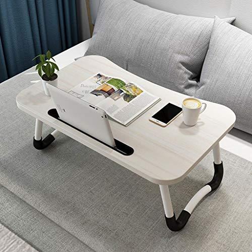 YSXCHZC Bed Laptop Tafel Koffie Snack Tafel Opvouwbare Sofa Side End Tafelboeken Lezen Tafel Kleine Ruimte Lichtgewicht 60 * 40 * 27cm