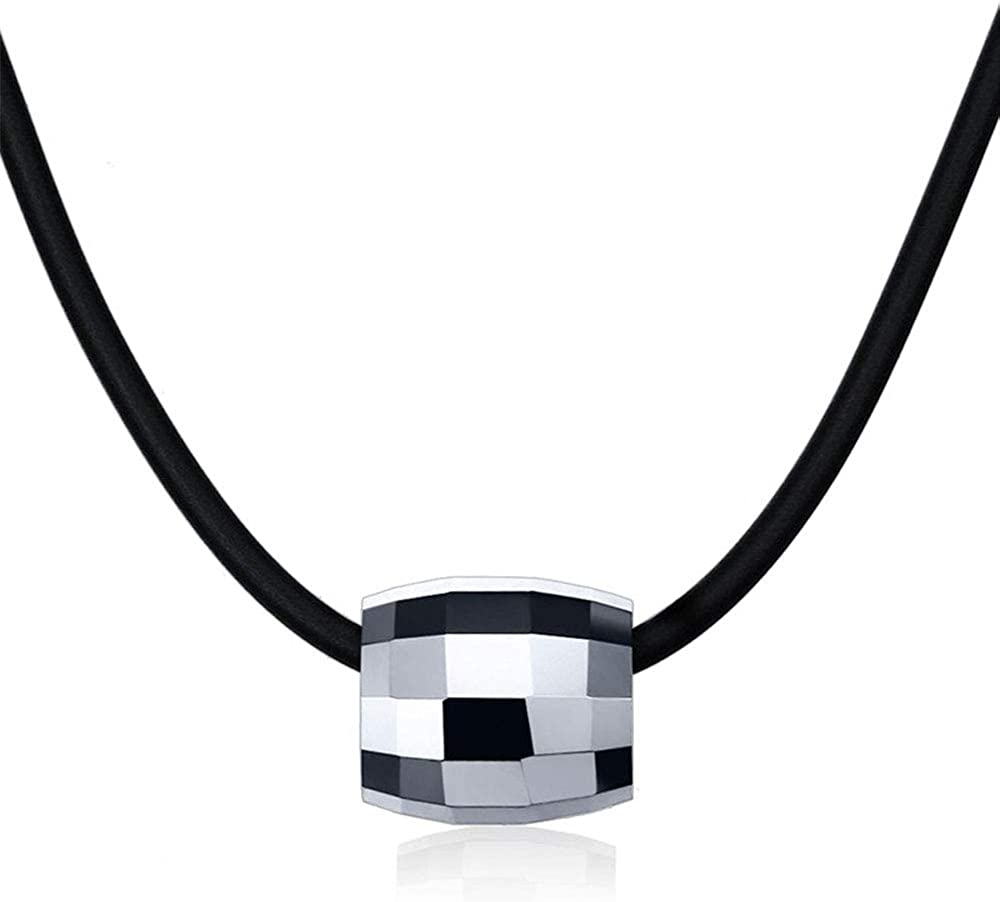 Rockyu Necklace for Japan's largest assortment Men Tungsten Silver Pendant Bucket Black Over item handling and