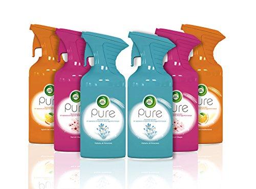Air Wick Pure Spray Deodorante Ambiente Cassa Mista, 6 Confezioni da 250 ml