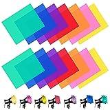 ANTHYTA 14 Stück Farbfilter Folie Filterfolien Gel 29.7 * 21cm Farbfolien Farbtemperatur Farbfilm Folie Transparente Farbige Beleuchtungs Folien Blitz Beleuchtung Gelfilter für Foto Studio Fotografie