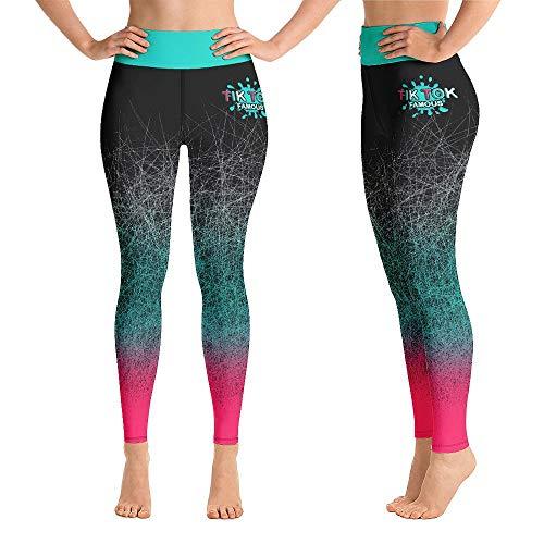 Fire Fit Designs TIK Tok Leggings TikTOK Butt Leggins Yoga Pantalones para Mujer Control de Barriga Leggings de Cintura Alta - negro - Medium
